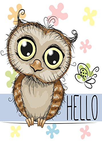 ShineSnow Cartoon Hello Owl Butterfly Floral Home Decorative