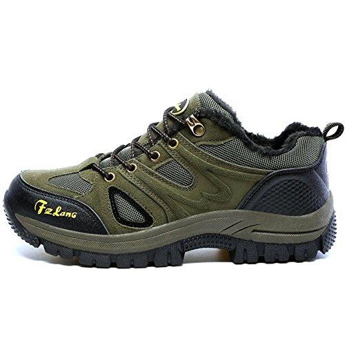 Stringate Scarpe Green Stivali Moda Uomo Army RAZAMAZA Basse Hiking IXgxwqqH