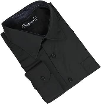 Ozmoint Camisa de manga larga para niños, color negro y colores, para bodas, bailes, ceremonias, fiestas (6 meses-16 años)