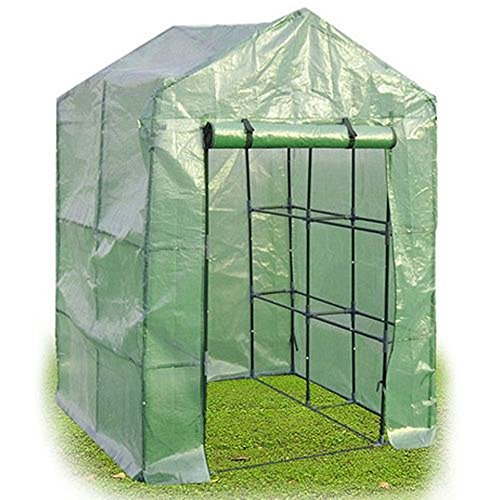MasterPanel - 8 Shelves Greenhouse Portable Mini Walk In Outdoor Green House 2 Tier - Carbon India Manufacturers In Fibre