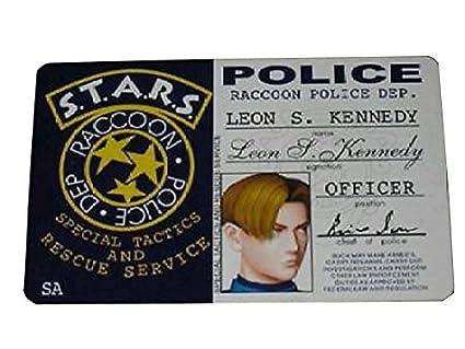 Amazon.com: Resident Evil RPD Leon Kennedy tarjeta de ID ...