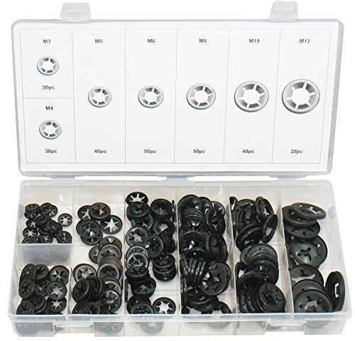 Swordfish 32341 Starlock Washer Assortment, 260 Piece