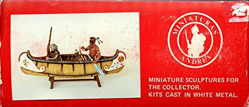 Andrea Miniatures 54mm 1:32 River Marauders 1750's White Metal Figure Kit #S4S4