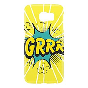 Loud Universe Samsung Galaxy S6 3D Wrap Around Comic Grrr Print Cover - Yellow