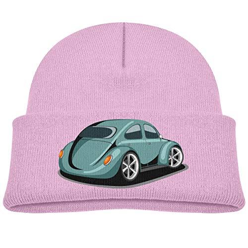 Kids Knitted Beanies Hat Deluxe Car Winter Hat Knitted Skull Cap for Boys Girls Pink (Deluxe Cap Skull)