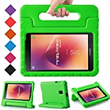 BMOUO Kids Case for Samsung Galaxy Tab A 8.0 2017 (SM-T385 /T380) - EVA Shockproof Light Weight Handle Stand Kids Case Cover for Samsung Galaxy Tab A 8-inch 2017 Release - Green