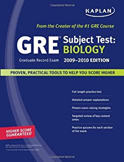 kaplan gre exam subject test biology 2009 2010 edition kaplan gre biology