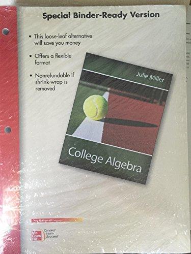 College Algebra Binder Ready Version 9781259696305 Slugbooks