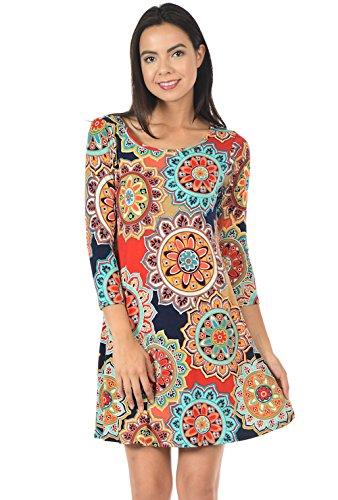 Womens Loose Sleeve Tunic Dress product image