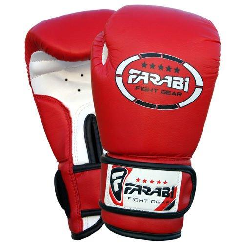 Farabi Sports Guantes de boxeo para niños piel sintética g color rojo