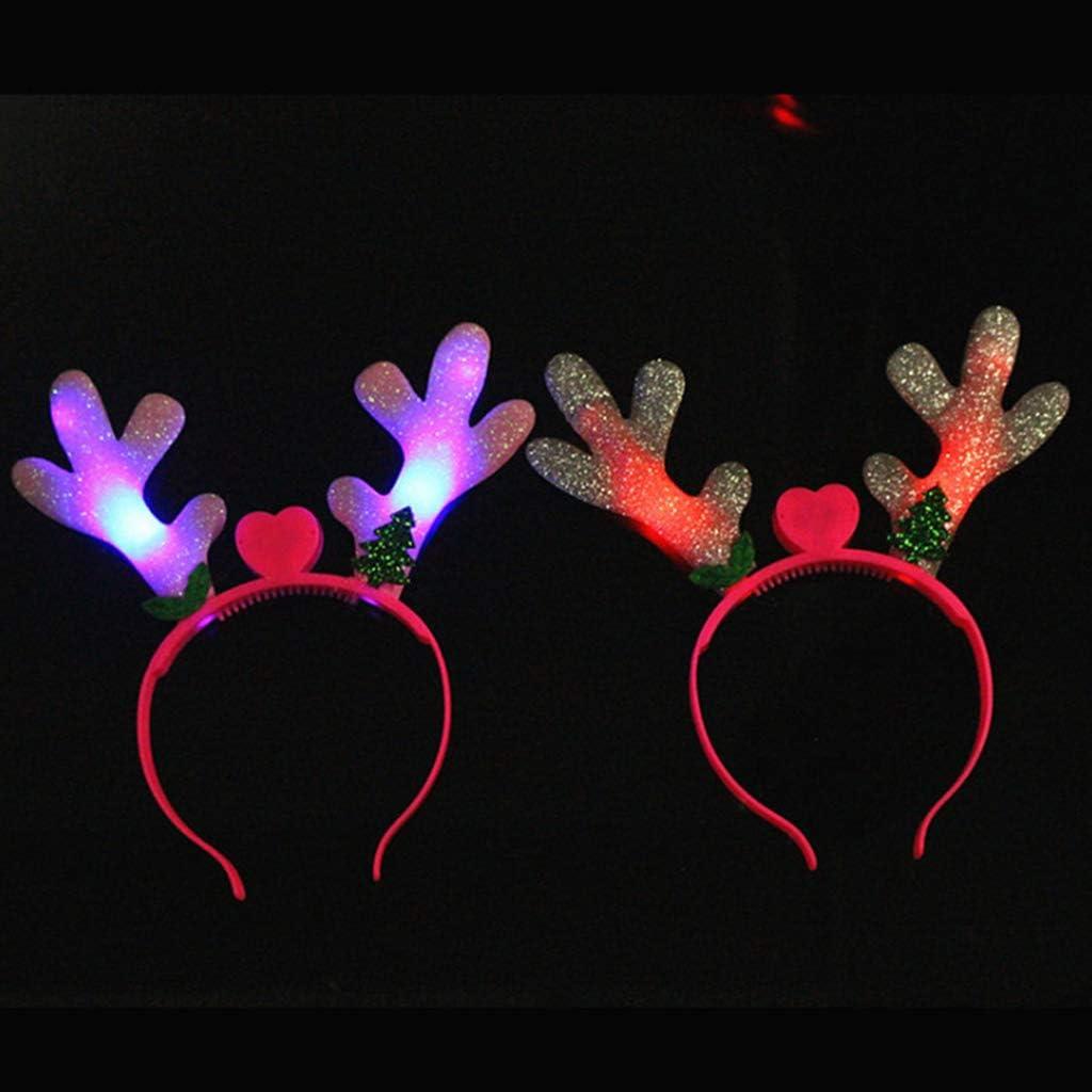 Fascia per capelli con luci LED che si illumina di nuovo Cuigu unisex colore casuale