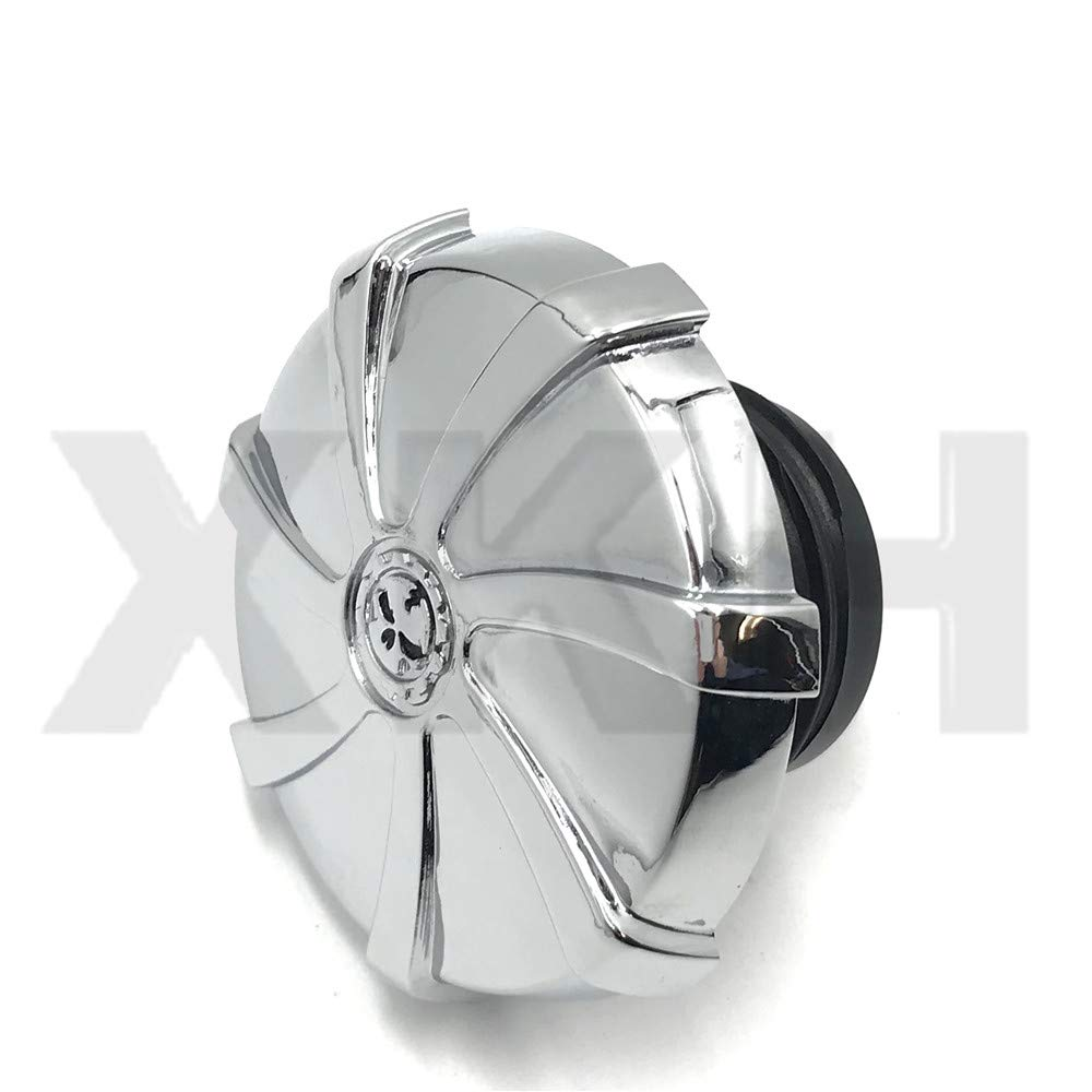 XKH-Replacement of CHROME VENTED SCREW IN GAS CAP HARLEY DAVIDSON TANKS FUEL TANK SPORTSTER DYNA HD XKH MOTOR