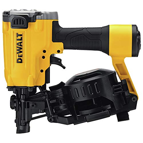 DEWALT DW45RNR 15-Degree Pneumatic Air Coil Roofing Nailer (Renewed)