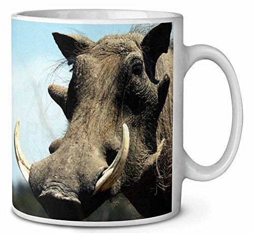 Wart Hog-African Pig Coffee/Tea Mug Christmas Stocking Filler Gift Idea by Advanta - Mugs (Pig Warthog)