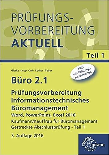 Büro 2.1 - Prüfungsvorbereitung aktuell Kaufmann/Kauffrau für ...