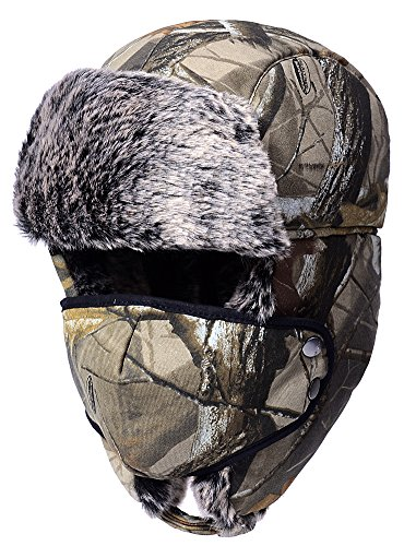 (Odema Unisex Nylon Russian Style Winter Ear Flap Hat Camouflage One Size)