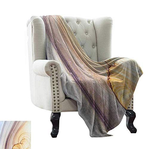 (LsWOW Children's Blanket Marble,Sandstone Rock Facet Pattern in Gradient Tones Artistic Marbling Image,Light Coffee Brown Beige Comfortable Soft Material,give You Great Sleep)
