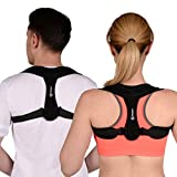 Mymer Posture Corrector Brace for Women & Men with Adjustable Shoulder Straps - Comfortable Back Brace for Clavicle Support & Improving Bad Posture & Healing Medical Problems & Relaxing Back Pain by