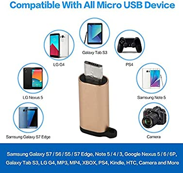 gfjfghfjfh Tragbare Mini-Aluminium-USB-C zum Mikro-USB-Adapter mit Keychain Anti-verlorenen USB-Typ-C zum Mikro-USB-Anschluss umwandeln
