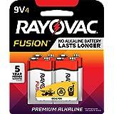 RAYOVAC 9V 4-Pack FUSION Advanced Alkaline Batteries, A1604-4TFUSJ