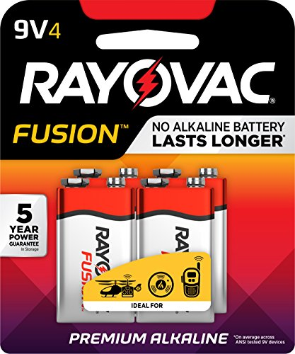 Rayovac 9v 4-pack Fusion Advanced Alkaline Batteries, A1604-4tfusj