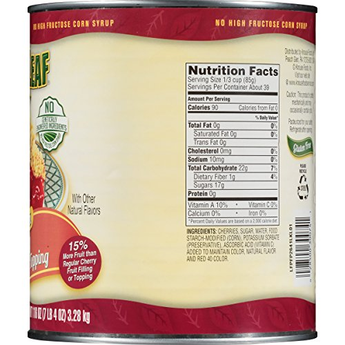 Lucky Leaf Premium Clean Label Cherry Fruit Filling or Topping Can, Cherry, 116 Ounce by Lucky Leaf (Image #2)