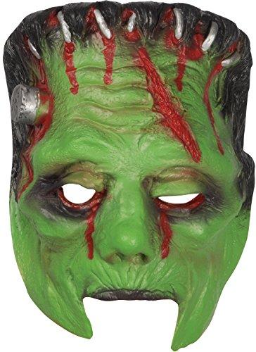 Loftus International Halloween Horror Frankenstein Monster Face Mask Green Black Red One Size Novelty Item -