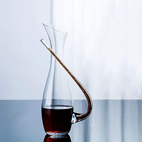 XINGUANG Wine Decanter 100% soplado a Mano sin Plomo Crystal Glass ...