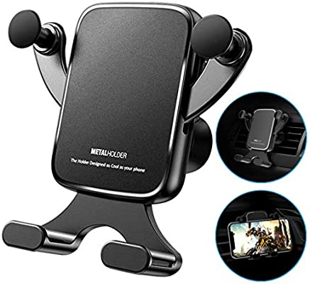 Air Vent Car Mount Premium Universal Phone Holder Cradle Compatible with iPhone 11 Pro iPhone XR XS Max SE 2020 8 Plus 7 6s 6 Galaxy S20 S10 S9 S8 Plus Edge Note 10 9 /& Other Smartphone