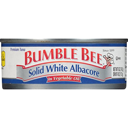 BUMBLE BEE Solid White Albacore Tuna in Vegetable Oil, Canned Tuna Fish, High Protein Food, Wild Caught, 5 Ounce Can (Pack of 24) (Best Olive Oil Brands In Canada)