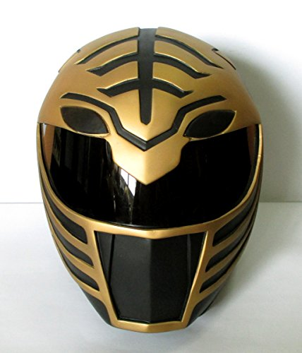 Rare!! Costume Helmet !! 1/1 Scale Life-Size ! Mighty Morphin Power Rangers BLACK TIGER RANGER Cosplay Mask Props (Power Rangers Helmet)