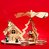 SIKORA P30 2-in-1 Wooden Christmas Pyramid with Usable Incense Smoker House Hansel and Gretel
