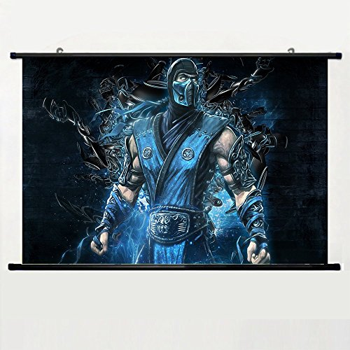 Eyor Home Decor Art Cosplay DIY Prints Poster with Sub Zero Wall Scroll Poster Fabric Painting 23.6 X 16.7 Inch (60cm X 40 cm)