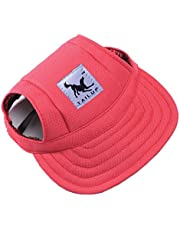 Small Pet Baseball Cap, Outdoor Doggie Cat Leisure Sunblock Protection Hat Visor, Summer Puppy Dog Casual Sports Oxford Fabric Canvas Outfit with Ear Holes and Adjustable Neck String