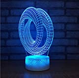 Creative Table Lamp Desk Lamp 3D Acrylic Night Light Acryllicht-Nachtlicht-Kreative Tischplattenanzeige Des Ringes 3D Führte Kinderlampen-Bunte Dekorative Leuchten 3D Using for Reading, Working