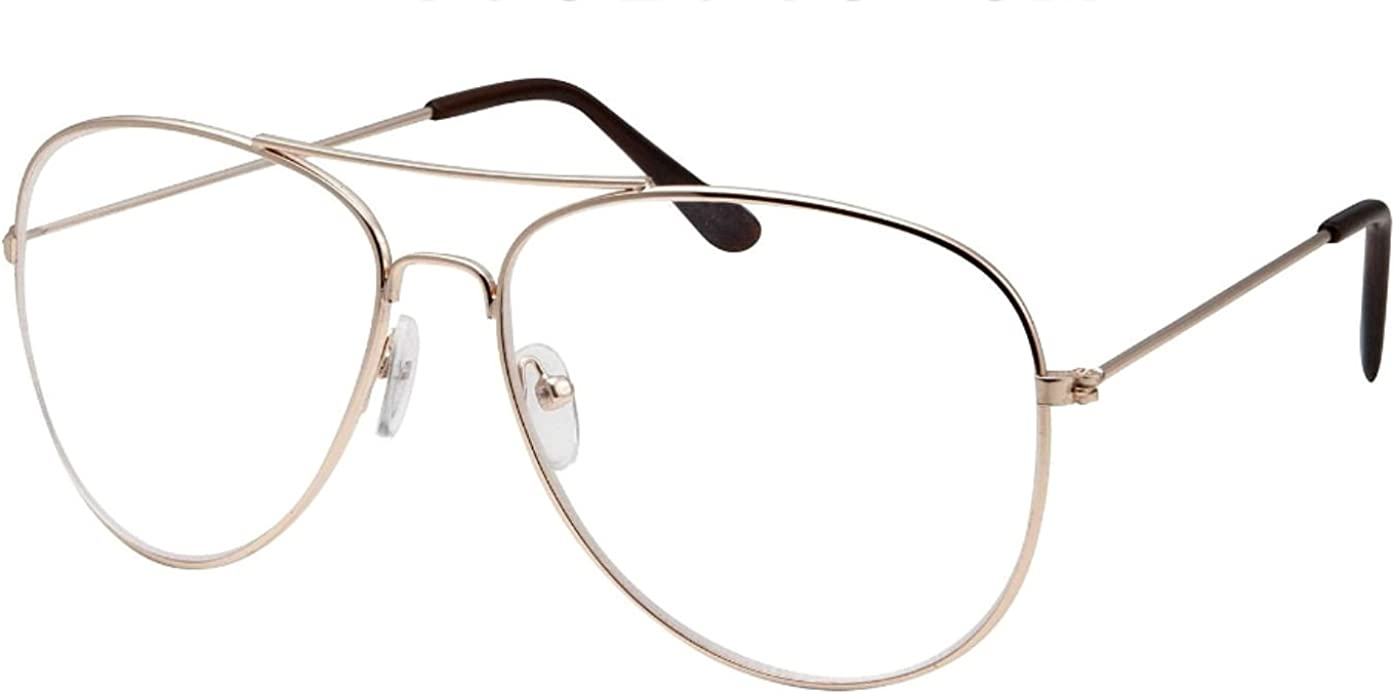 WebDeals(TM) - Clear Lens Aviator Eyeglasses