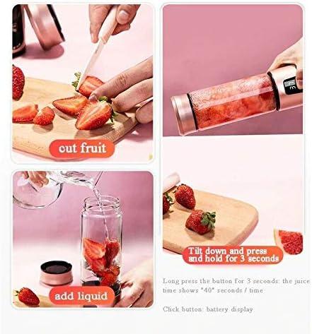 LYYN Exprimidor eléctrico portátil Licuadora USB Mini Mezcladores de Frutas Exprimidores Extractores de Frutas Alimentos Batido Máquina Multifuncional para Hacer jugos