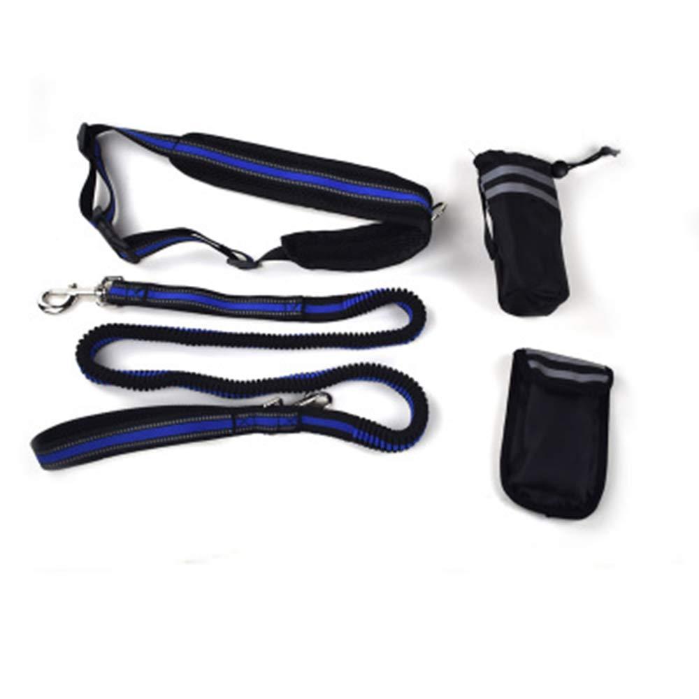 TALZG Adjustable Multifunction Nylon Reflective Pet Leash,Blue