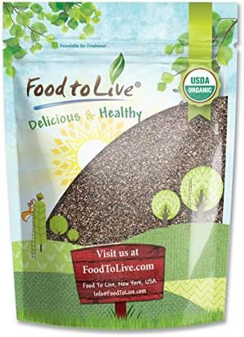 Organic Chia Seeds, 2.5 Pounds — Black, Vegan, Kosher, Non-GMO, Great for Smoothies