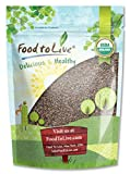 Organic Chia Seeds — Certified, Non-GMO, Kosher, Raw, Whole, Black, Bulk (by Food To Live) 8 Ounces