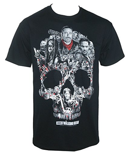 (Changes The Walking Dead Men's Skull Montage T-Shirt Black 3XL )