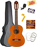 Yamaha CGS102A Half-Size Classical Guitar Bundle with Gig Bag, Tuner, Instructional DVD, Strings, Pick Card, and Polishing Cloth - Natural
