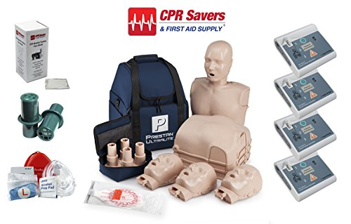 Beginner Instructor Package with 4 AED Trainers by CPR SAVERS