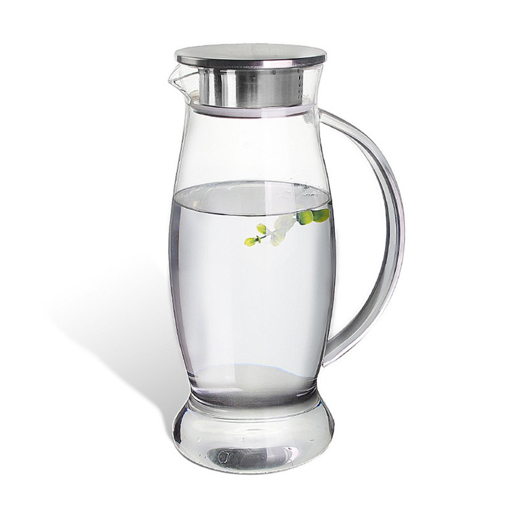 Artcome 1.5 Liter Woodpecker Design Iced Tea Pitcher Glass Water Pitcher with Stainless Steel Strainer Lid