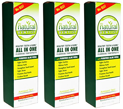 The Natural Dentist All In One Fluoride Toothpaste (Pack of 3) ()