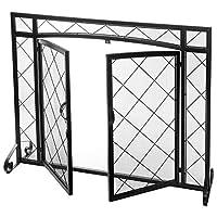MyGift 1-Panel Lattice Design Metal Fire...
