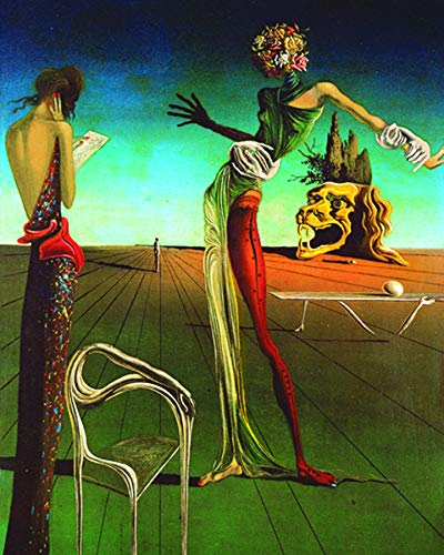 (Culturenik Salvador Dali -Woman with Head of Roses 1935 Gala Fine Art Print (Framed 8 x 10 Poster))