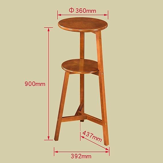 Stand MEIDUO 3 Reihen Regal Massivholz Blumenständer Wohnzimmer Möbel H 60  CM, H75CM, H90CM Sehr Langlebig (Farbe : Nussbaum, Größe : H90CM):  Amazon.de: ...