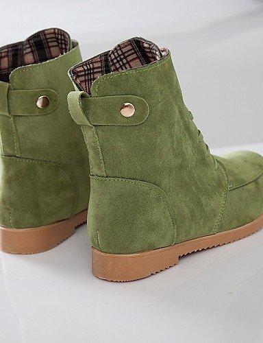 U Rojo Negro Robusto Zapatos us8 Caqui Eu39 Marrón Redonda us8 Green Vellón Botas Casual Moda 5 Vestido 5 Brown Tacón La Mujer Cn40 A 5 De Uk6 Xzz Punta ZCqIad4nd