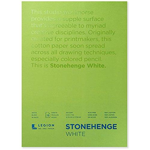 Stonehenge Pad White 9X12 15 Sheets (Packaging May Vary)